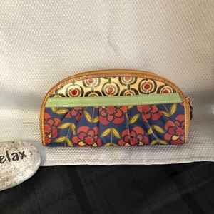 FOSSIL Floral Zipper Wallet